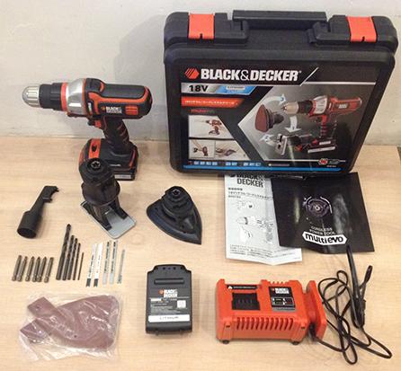 ワークショップで使用したブラック&デッカーの電動工具たち